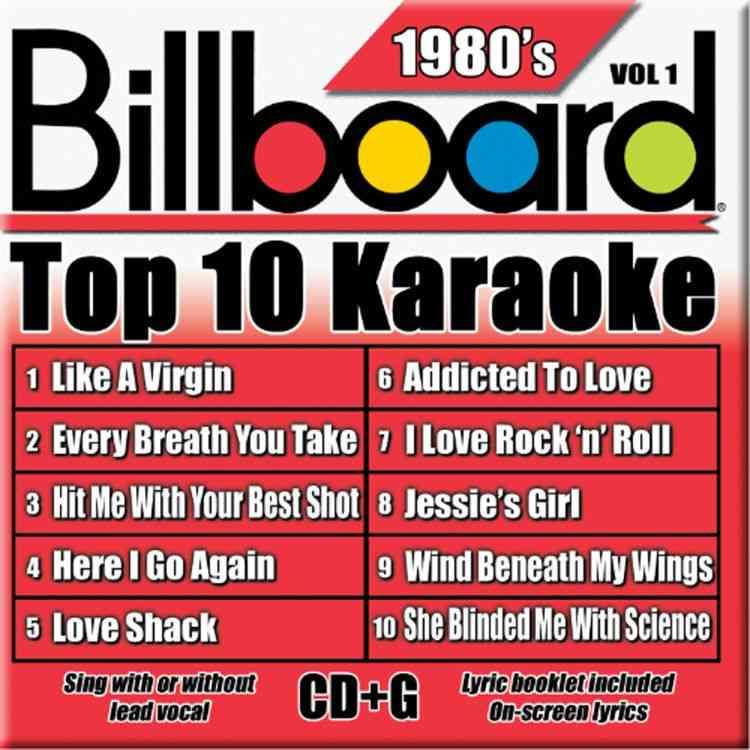 BILLBOARD TOP 10 KARAOKE:1980'S BY KARAOKE (CD)